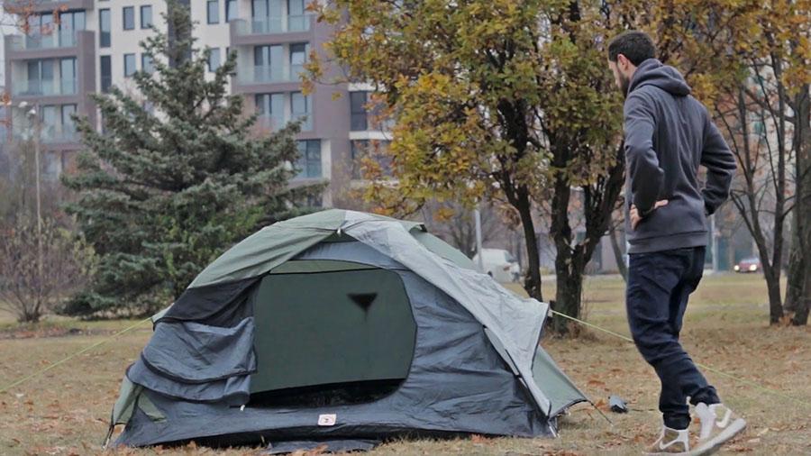 подготовка за спане на палатка